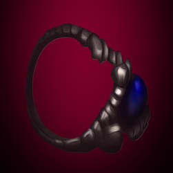 My Scorpion Ring :3 by WolfmanArtist