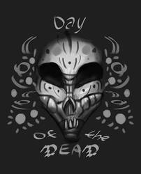Day of the Dead - flyer by WolfmanArtist