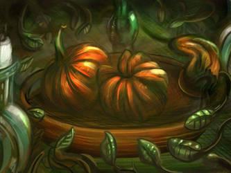 Pumpkin - Still Life by WolfmanArtist