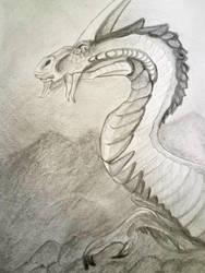 Dragon -sketch by WolfmanArtist