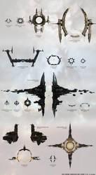 EVE Online Stargate size chart by funzinnu