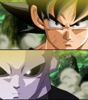 Son Goku vs Hairo no Jiren by Monstkem