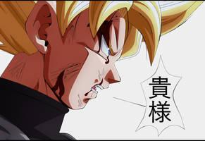 Goku Burakku Super Saiya-jin by Monstkem