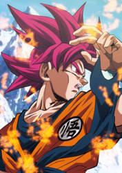 Son Goku Supa Saiya-jin Goddo by Monstkem