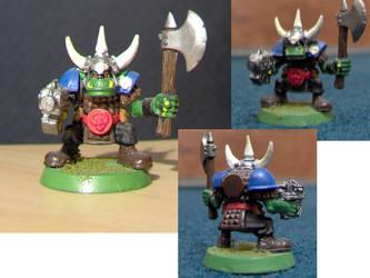 Warhammer 40k Ork Boy by izalithium