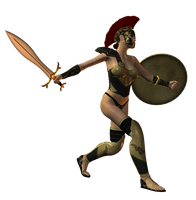 Spartana : Female Warrior 003 by Selficide-Stock