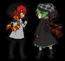 Chibi:KaiSuki:nekodoru:WINTER by nekodoru