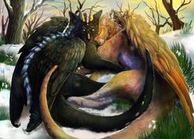 Cat-dragons Love_March by Araivis-Edelveys