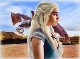 Daenerys Targaryen - Khaleesi by SpringzArt