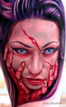 Bloody Zombie girl by sass-tattoo