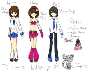 Time Warp - Character Designs by Rin-shi