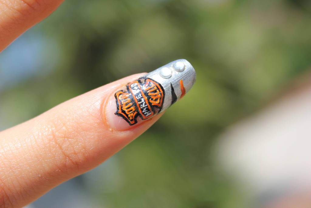 Harley Davidson (HD) nail art by ChiquisArt ... - Harley Davidson (HD) Nail Art By ChiquisArt On DeviantArt