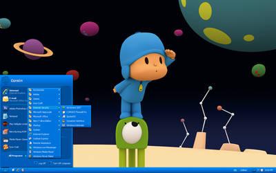 My Pocoyo Desktop by oddbasket