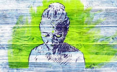 Self portrait in green by bluethroat