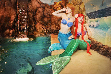 Afina and Ariel by Usagi-Tsukino-krv