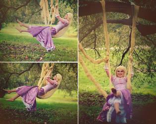 Rapunzel on a swing 1 by Usagi-Tsukino-krv
