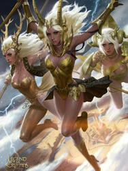 Three goddesses by KilartDev