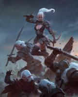 Dark Elves Blood Corsair by KilartDev