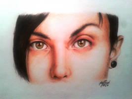 Frank Iero's Eyes by SilkSpectreII