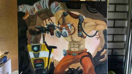Claptrap and Krieg by DiekeDrake