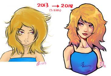 Blonde Girl redraw by BenPlus