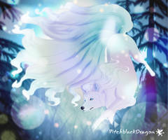 Alolan Ninetales by PitchblackDragon