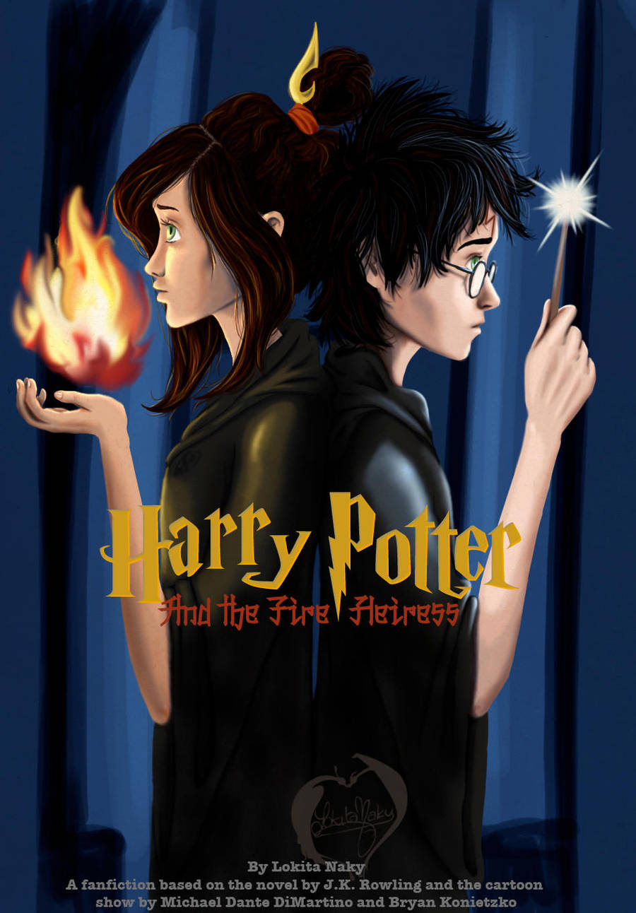 Harry Potter and the Fire Heiress cover by Lokita-Naky
