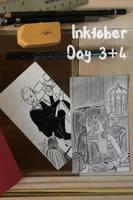 Inktober 3+4 by Lokita-Naky