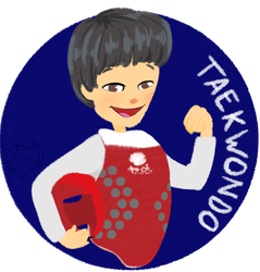 Chibi Mascot - Taekwondo  by Lokita-Naky