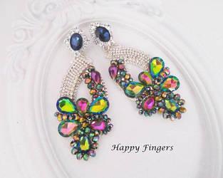 ETSY SALE 10-20% big earrings by HappyFingersJewelry