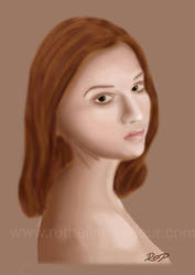 Red Haired Girl by Ruth-Ellen-Parlour