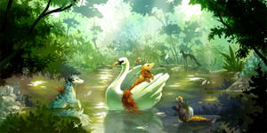 Swan Boat by rejamrejam