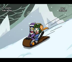Snow Sledding Wrecker Style by wachey