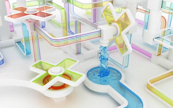 Flowing colors by k3-studio