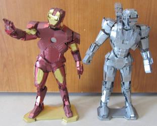 Metal Earth - War Machine and Iron man by aim11