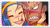 Gajeel x Levy Stamp 3 by whiteflamingo