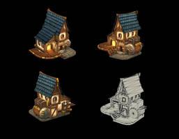 Steampunk house 1 by JohnMcFlurry