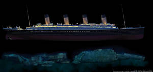 Titanic -now and then by lusitania25