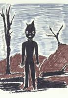 Inktober20180 - XIX - Queimado - Scorched by DoodlAnne