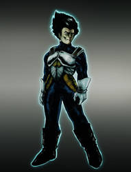 Vegeta arrived 2.0 by Night-hawk-Tamps