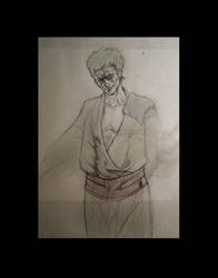 Zoro sketch-04 by Night-hawk-Tamps