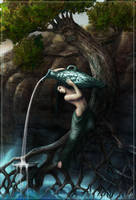 Tuille,goddess of Spring water by dareevan
