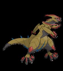 Mega Haxorus by ForiegnBacon