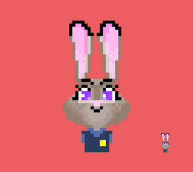 Pixel Art Judy Hopps by Eusebe50
