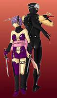 Ryu Hayabusa and Ayane by inuchiyo