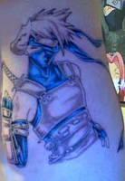 My Tattoo of Kakashi by ImMzUndastood