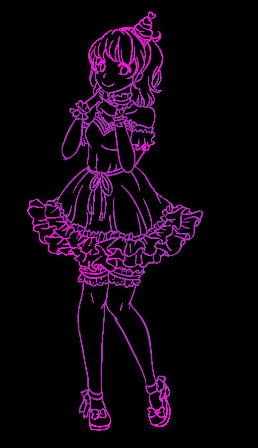 Sweetie Delights- Cupcake Swirl Outline by Pinku-Hedgie