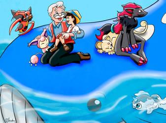 Geppetto and Pinocchio Team by VibaFleischer