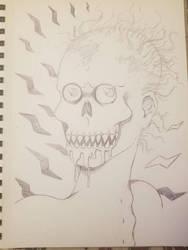 Inktober day 12: Ghoul Drool by Pixxielynn