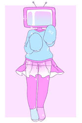 Baby Tv Head by dollieguts